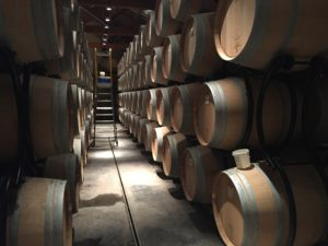 Thibert barrel room (pic. Euan McKay)